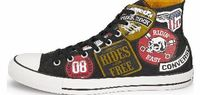 Converse CTAS Patches Print Hi-Tops Converse Chuck Taylor All Star Patches Print Hi-Top Plimsolls A footwear choice for millions across the globe the Chuck Taylor hi-top silhouette is given a vintage Americana rework ahead of the new se http://www.compare...