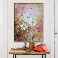 Abstract floral paintings on canvas Original palette knife acrylic flower art framed Wall Art Pictures contemporary art cuadros abstractos $99.00