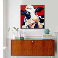 Cow paintings on Canvas Original art animal paintings palette knife oil painting Wall Pictures heavy texture hand painted cuadros abstractos $106.50