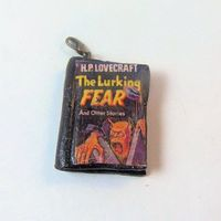 The Lurking Fear Book Pendant by HP Lovecraft - polymer clay charm