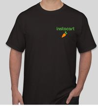 Instacart men and womens tshirt with back design $14.00