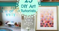 Don't know what to do with empty Wall Space? Tons of Solutions in these DIY Wall Art Tutorial Ideas!