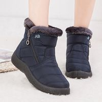Waterproof Women Snow Boots Fashion Winter Plush Female Boots Women Warm Ankle Botas Mujer Winter Ladies Shoes Big Size 35-43 9 orders US $14.65