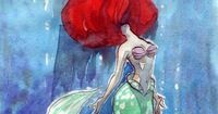 merverb: taijavigilia: Trapped under. I was in a bit of an Ariel mood�€� yes. Glen Keane has indicated Ariel's hair is a symbol for a problem she has to overcome, and in my opinion it's her feeling of being trapped underwater, but more...