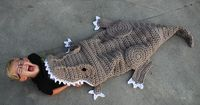 This is a PDF crochet pattern for a Bulky T-Rex Blanket! This is one of the most�€�