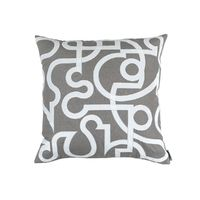 Geo Light Grey Euro Pillow by Lili Alessandra $312.00