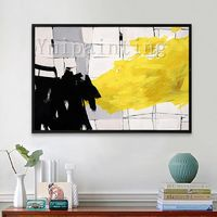 Abstract acrylic paintings on canvas original art Large Geometric yellow painting Wall Pictures Home Decor Hand Painted cuadros abstractos $89.00