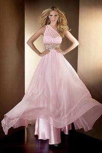 One Shoulder Sheath Sequins Prom Dresses