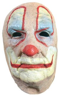 Old Clown Face Adult Costume Mask $19.91 https://costumecauldron.com