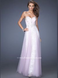 Lovely Lace And Tulle Floor Length Prom Dress Gigi 19967