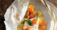 Fish Fillets with Tomatoes, Squash, and Basil Per serving: 300 calories, 15 g fat, 2 g fiber Read More http://www.epicurious.com/recipes/food/views/Fish-Fillets-with-Tomatoes-Squash-and-Basil-395933#ixzz1wBmXVT2t