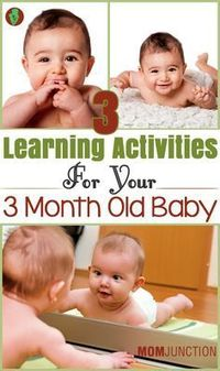 Your 3 month old darling is now bigger, more active & alert than before. Want to make learning more fun for her? Check out 3 activities for 3 month old baby