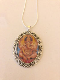 Lakshmi and Ganesh pendant necklace, metaphysical jewelry, religious gifts $22.00