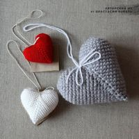 Crochet Heart - Tutorial (use Google translate) '' 4U // hf
