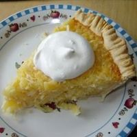 Pineapple-Coconut Chess Pie. My favorite pie. Love the texture. Love everything.