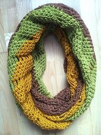 This comfy scarf is very easy to crochet and takes around 13-15 hours in total