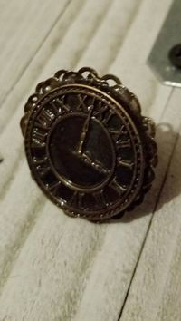 Antique Clock Ring/ Steampunk Statement Ring $6.50