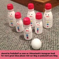 Instagram Therapy Idea of the Week: Snowman Bowling! - pinned by