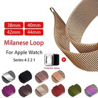 Milanese Stainless Steel Loop strap For Apple Watch 38mm 42mm 40mm 44mm series 4 3 2 1 $21.99