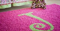 Jennifer Harris this is calling your name!! Custom Personalized Solid Color Rectangular Rug from PoshTots.
