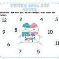 Freebie! Winter Roll and Cover Center or Game! Students roll two dice and add the numbers to cover the sum on the sheet.These sheets are includ...