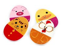 Assorted Mix of Wooden Easter Egg Buttons. 20 or 50. Cute Animal Faces. Children's Crafts. Sewing, Dressmaking, Upholstery and Fancy Dress £2.89