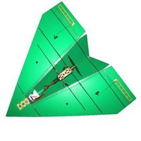 KT PP Board 1250mm Wingspan Paper RC Airplane Racing Aircraft DIY Kit