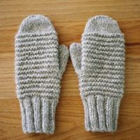 Cozy Purl Ridge Mittens, Pattern PDF Download | WIKSTEN