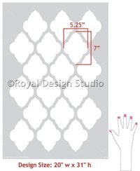 Moroccan Wall Stencil Marrakesh Allover by royaldesignstencils