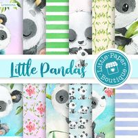 Panda Digital Paper, Panda Pattern, Spring Digital Paper,Kids Pattern, Panda Bear Digital Paper, Panda Printable Paper, Panda Bear Paper $7.00