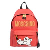 Moschino Pudgy Women Large Leather Backpack Red