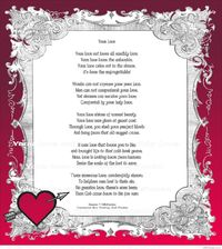 Your love christian poem poster