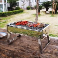 Portable Stainless Steel Charcoal Outdoor Grill $67.89