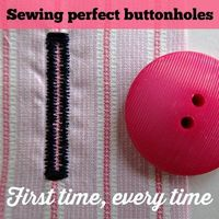 Step by step guide and video on sewing a buttonhole by machine, using a buttonhole foot. Scared to sew buttonholes? Me to, but look - it's really easy!