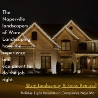 The Naperville holiday light installation experts at Ware Landscaping canassist youwith the tedious jobof putting inand taking down holidayand Christmas lighting.Contact and Call us today at 630-885-6370