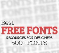 Best Free Font Resources for Designers (500+ Fonts)