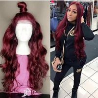 99J Colored Lace Front Human Hair Wig $194.12