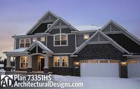 Storybook Craftsman House Plan 73351HS. 4 beds up and a 5th in the lower level.