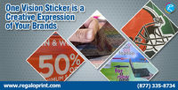 One Vision Sticker is a Creative Expression.jpg #RegaloPrint