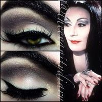 Morticia Addams inspired look from a while back ricepaper all over with copperplate in the crease.