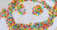 Confetti Collage ~you can do so many thing with this: work fine motor skills, talk about color/shapes and create lots of different pictures.