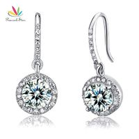 Peacock Star Solid 925 Sterling Silver Bridal Wedding Fashion Bridesmaid Earrings Dangle Drop Jewelry CFE8026 $27.00