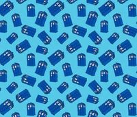 Tardis Blue fabric by louiseharris on Spoonflower - custom fabric