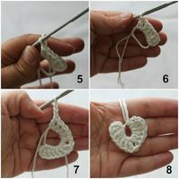 Tutorial: Tiny crochet hearts