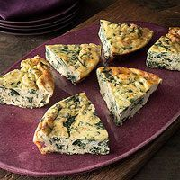 Spinach and Ricotta Frittata. 3 tablespoons EVOO 1 small onion, finely chopped 2 - 3 cloves garlic, chopped or thinly sliced 2 tablespoons fresh thyme, chopped Salt and pepper 4 - 5 cups baby spinach or stemmed and coarsely chopped chard 8 large organic, ...