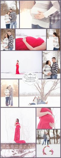 Snow Maternity Wonderland Portrait Boutique Newtown PA Maternity Session in the snow