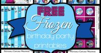 Free Frozen Birthday Party Printable Kit. It's awesome I got so many things Maze with this printable! ! Loved it!