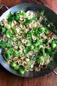 Orecchiette with Brussels Sprouts, Walnuts, and Brown Butter