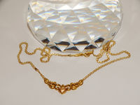 """T & C """" Designer Signed 14k Yellow And Rose Gold Heart Necklace. $385.00"""