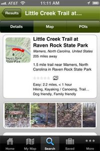 EveryTrail App for iPhone